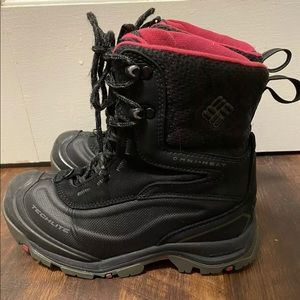 Columbia Bugaboot Boots Size 7 Black Bright Rose